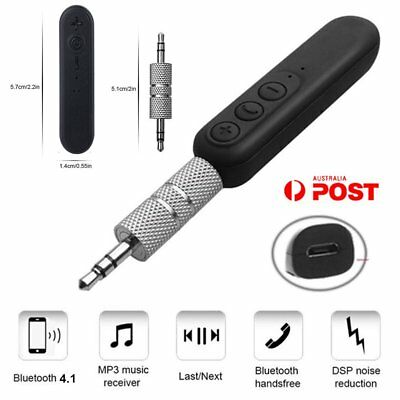 Wireless Bluetooth V4.1 BUX Audio Stereo Music Home Car Receiver Adapter 3.5mm A