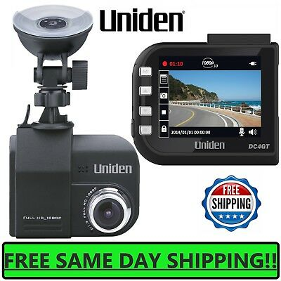 "Uniden 2.7"" HD Dash Cam Car 170 Wide HD Camera 1080p GPS Dashboard mount Loop SD"