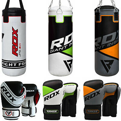 RDX Kids Punching Bag Unfilled Set Junior Kick Boxing 2FT Heavy MMA Training UKP