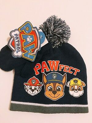 Paw Patrol PawFect Kids Toddler Boys 2 Piece Beanie Hat Gloves Winter Gift  Set d278f11b785b