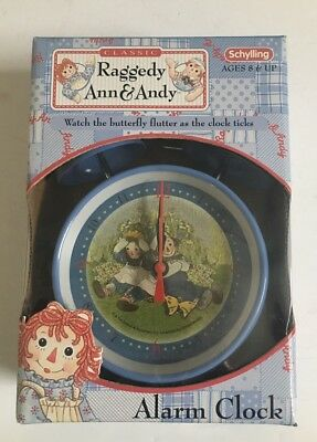 Raggedy Ann & Andy Alarm Clock By Schylling New Old Stock