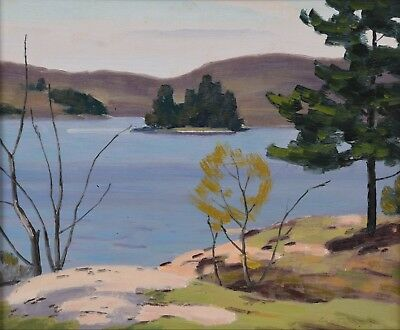 George Thomson Ontario Lake Landscape Oil Painting Canadian Listed OSA 1868-1965