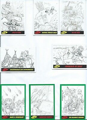 Mars Attack The Revenge Complete Base & Green Parallel Sets 220X Cards