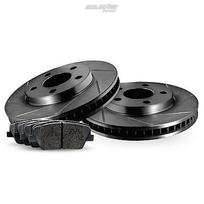 Front Cross-Drilled Slotted Brake Rotors Disc and Ceramic Pads Freestar,Monterey