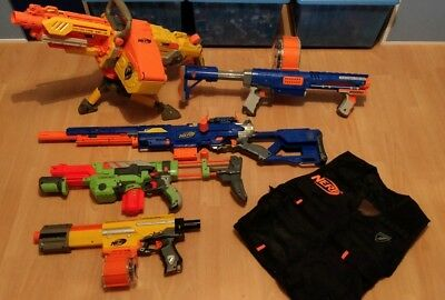Nerf Guns Job Lot and Vest