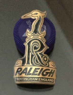 Raleigh Bicycle BMX Head Stem Alloy Badge