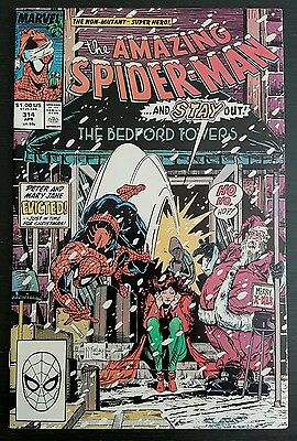 Amazing Spider-Man #314 (1989 Marvel) *christmas Cover* Vf+/nm