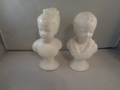 2 Busts of Children White