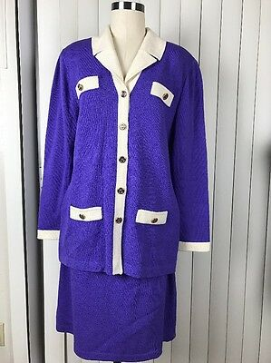 Marie Gray ST JOHN COLLECTION  Santana Knit Jacket  Skirt Suit 12