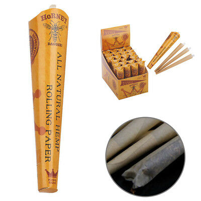 24 Packs Cigarette Rolling Paper Pre-rolled Cone Tips Manual Fill Smoking