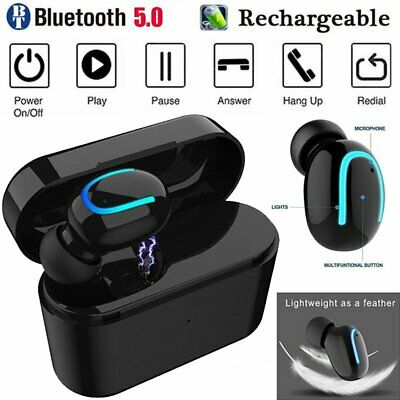 Bluetooth 5.0 Earbuds Wireless Headphones Mini Invisible Single Headset AU