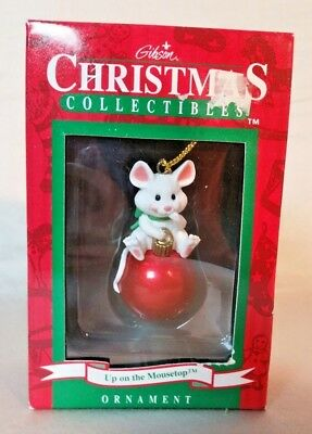 Gibson Christmas Collectibles Up On the Mousetop Ball Ornament