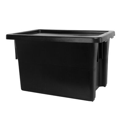 Ingredient Storage Tub Black 68L & Lid Okka Food Grade Container Box Tubs