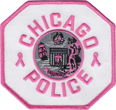 CHICAGO POLICE DEPARTMENT SHOULDER PATCH: Breast Cancer Awareness