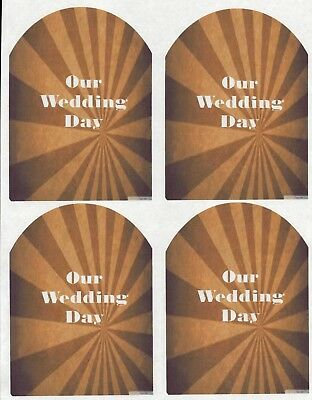 SET OF 6 X PERSONALISED 89 x120.7MM BROWN SUNBURST  WINE BOTTLE LABELS