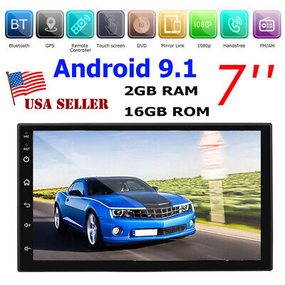"Android 9.1 Car GPS Stereo Player 7"" HD Screen WIFI FM Radio MP5 Headunit NO DVD"