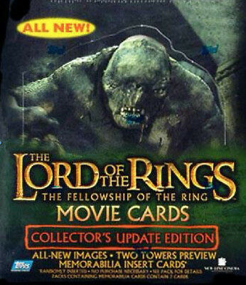 Topps LOTR Fellowship Movie Cards Collector's Update Edition Box Factory Sealed
