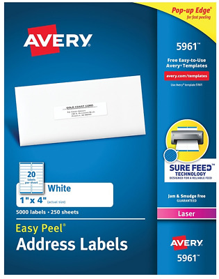 avery 596152615161 address mailing shipping labels 20 labelssheet 100