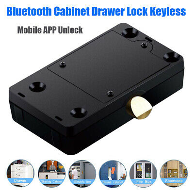 Hidden Digital Electronic Bluetooth Smart Cabinet Door Drawer Lock Safety MINI