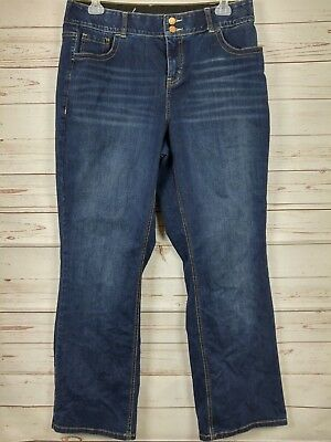 Lane Bryant Boot Cut With Tummy Technology Dark Wash Jeans Size 16R