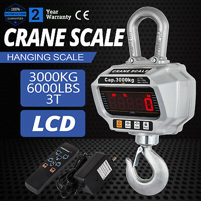 3T Digital Crane Scale 3000KG 6600LBS  Voltage display 1 kg Resolution LCD