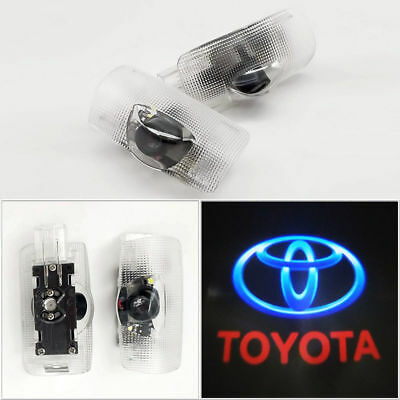 2pcs For Toyota Door Projector Car Logo Led Light Shadow Ghost Welcome Laser USA