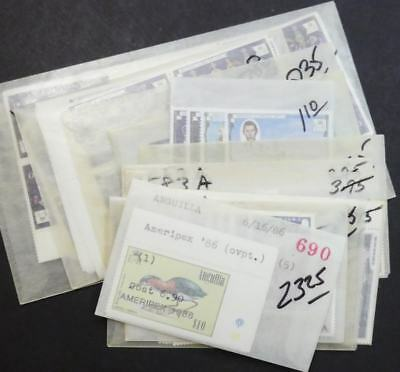EDW1949SELL : ANGUILLA Nice collection of all VF, Mint NH sets & S/S Sc Cat $198