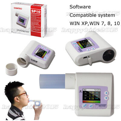 Handheld Spirometer Lung Check,Digital Vitalograph PEF FEFV1 FEF+FREE MOUTH TUBE