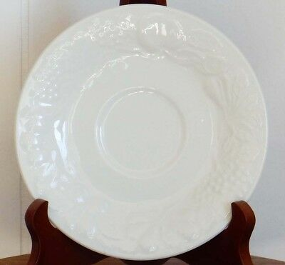 GIBSON Everyday China Embossed Fruit Design Saucer