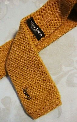 CRAVATTA (TIE) tricot wool  vintage YVES SAINT LAURENT made in Italy New!  rare