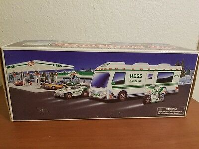 HESS 1998 RECREATION VAN with Dune Buggy and Motorcycle in BOX Great Condition
