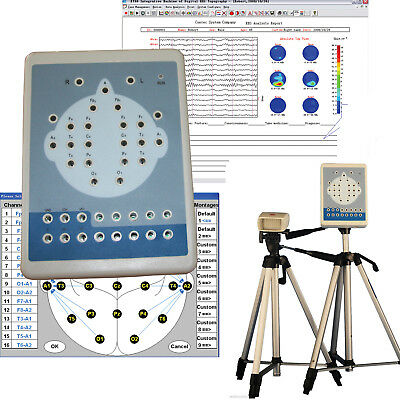 NEW KT88 Digital Brain Electric Activity Mapping EEG Machine 16 channel tripods