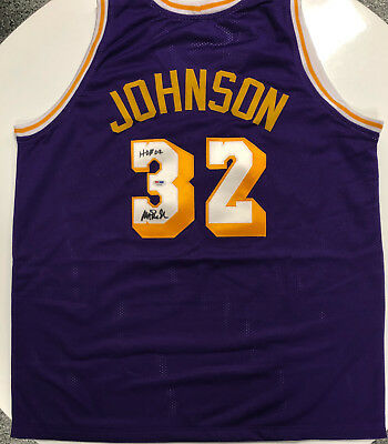 31a752af4a7 MAGIC JOHNSON AUTOGRAPHED / Signed Los Angeles Lakers #32 Jersey w ...
