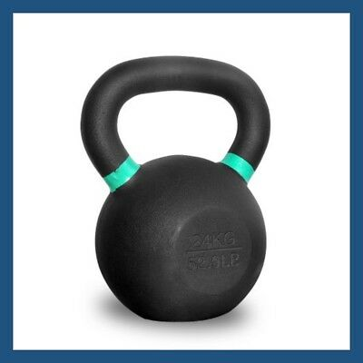 24kg Classic Powder Coated Cast Iron Russian Style KettleBell
