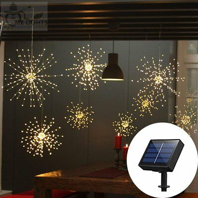 120 LED String Light 8 Modes Dimmable Hanging Starburst Twinkle Light Party Xmas