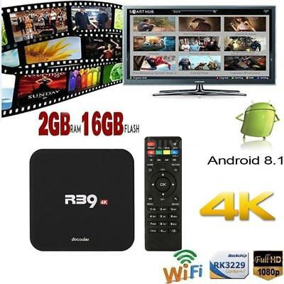 docooler R39 Smart Android8.1 TV Box RK3229 Quad Core 4K 2G 16G WiFi H.265 Media