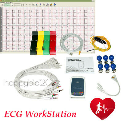 NEW Multi-functional 12 Leads Resting PC-ECG/EKG Workstation System