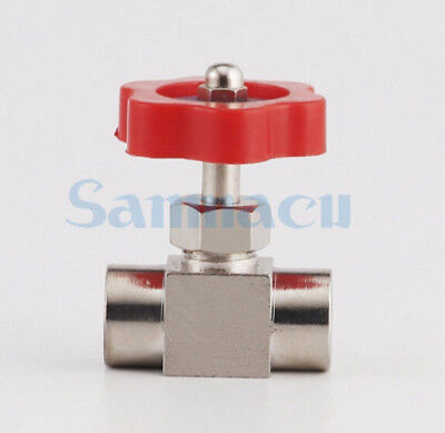 "1/8"" 1/4"" BSP Female Threaded Nickel-Plated Brass Needle Valve 0.8 Mpa"