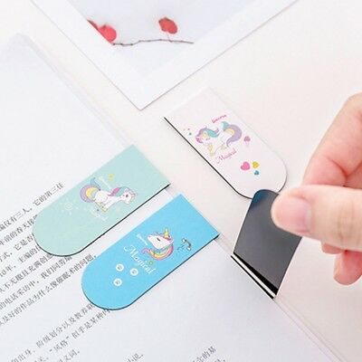 Unicorn Magnetic Bookmark School Reading Marker Stationery Supply Page Kids Gift