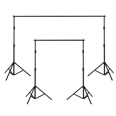 """10"""" Adjustable Backdrop Support Stand Photo Photography Background Crossbar Set"""