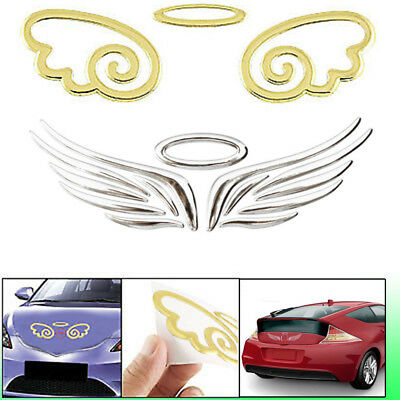 3D Angel Wings Decals Emblem Badge For Motorcycle & Car Styling Sticker 2019