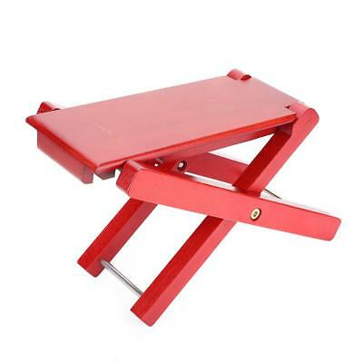Folding Guitar Bass Foot Rest Pedal Foot Stool Adjustable Heights Sturdy