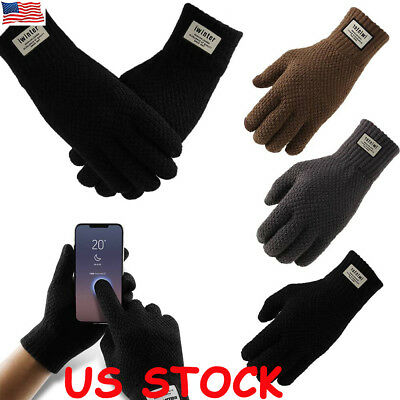 Mens Women Thermal Insulation Touch Screen Winter Warm Gloves For Smartphone US