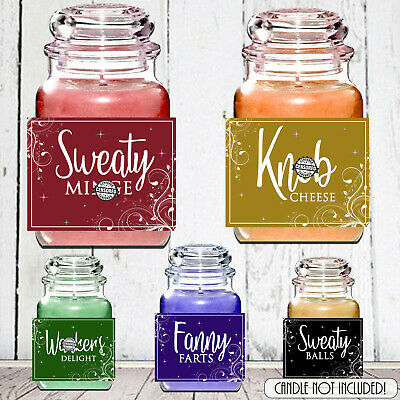 Novelty Birthday Valentine Gift Yankee Candle LABEL Rude Funny Mum Sister Friend
