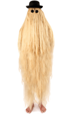 Adults Cousin It Costume Addams Family Halloween Fancy Dress Hairy Relative