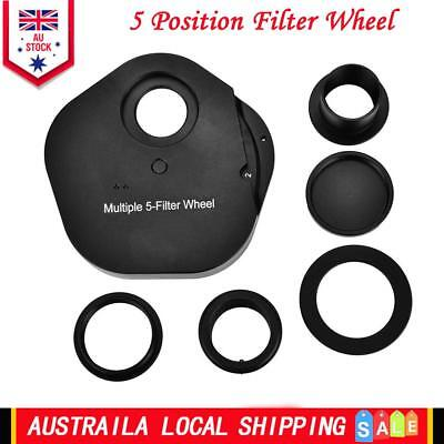5-Position Manual Filter Wheel for Astrophotography to CCD Camera+T2 Adapter Hot