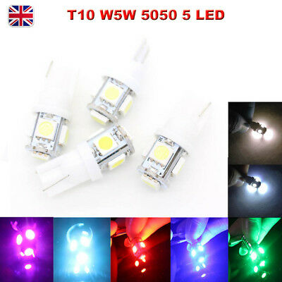 T10 5050 W5W 501 5 SMD LED Bulbs Car Interior Lights Side Lamp Wedge Capless