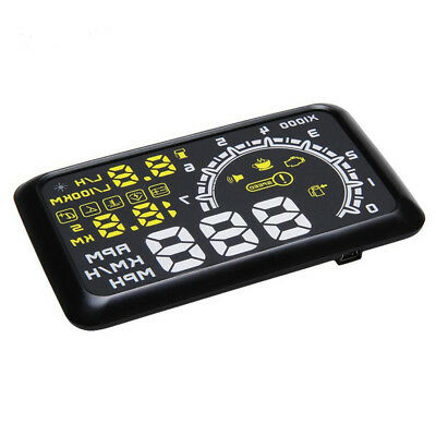 Universal Auto Car HUD Head Up Display OBDII OBD2 Speed Water Fuel Consumption