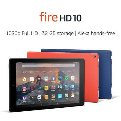 """New Fire HD 10 Tablet with Alexa Hands-Free, 10.1"""" 1080p Full HD Display, 32GB !"""