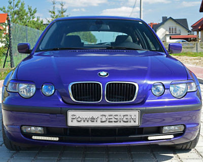 Eyebrows for BMW 3 Series E46 Compact 2001-2004 headlight eyelids ABS Plastic